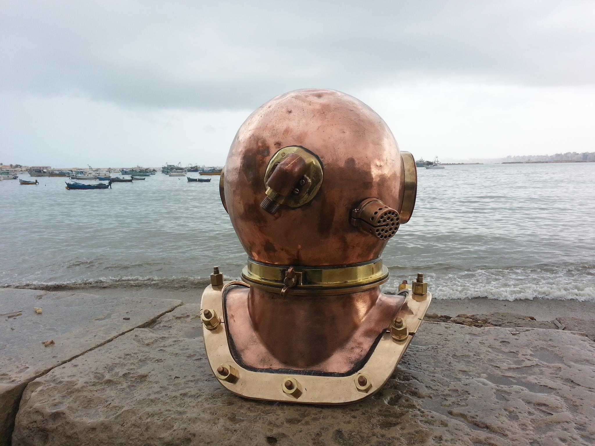 Russian 12 Bolt Diving Helmet