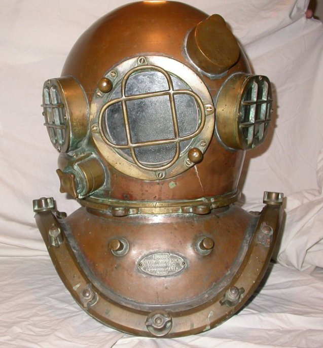 morse commercial diving helmet